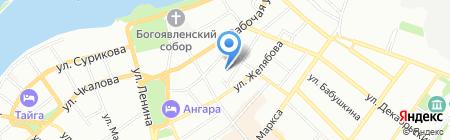 Атмен Хаус на карте Иркутска