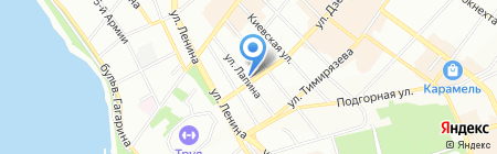 Вектор на карте Иркутска