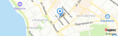 Иркторг на карте Иркутска