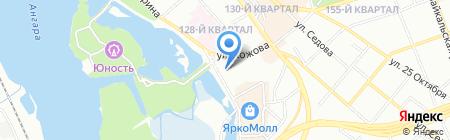 Динамо на карте Иркутска