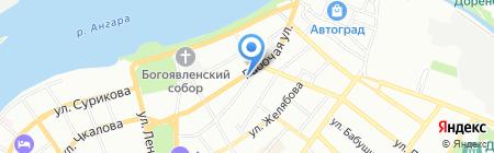 Георгий на карте Иркутска