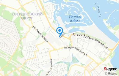 Местоположение на карте пункта техосмотра по адресу г Иркутск, ул Майская, д 25