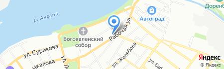Средняя общеобразовательная школа №72 на карте Иркутска