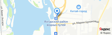 Матадор на карте Иркутска