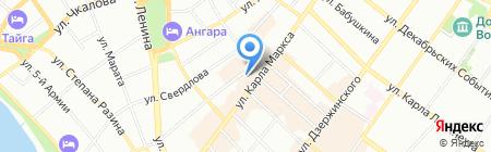 БАНК УРАЛСИБ на карте Иркутска