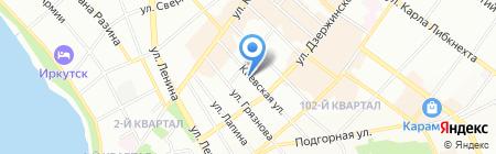 А Стиль на карте Иркутска