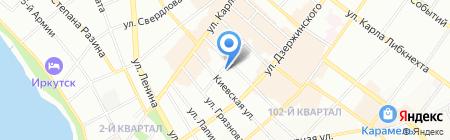 Светлана на карте Иркутска