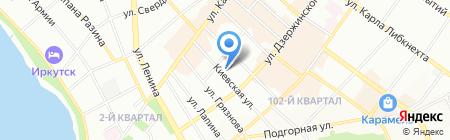 РУС-КР на карте Иркутска