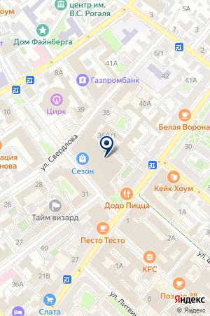 Унга на карте Иркутска
