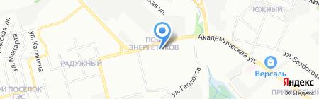 Паутина на карте Иркутска