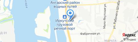 Еврокрепеж на карте Иркутска