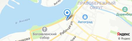 МАКТЕ на карте Иркутска