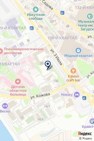 ФОНД ОБЯЗАТЕЛЬНОГО МЕДИЦИНСКОГО СТРАХОВАНИЯ на карте Иркутска