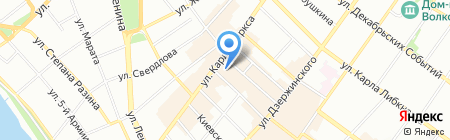 Лина на карте Иркутска
