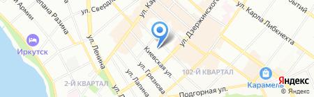 Инва Иркутск на карте Иркутска