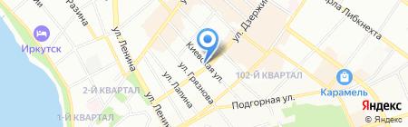 Банкомат Восточный экспресс банк на карте Иркутска