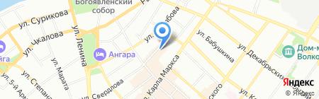 Канцлер на карте Иркутска
