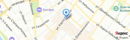 Сбербанк России на карте Иркутска
