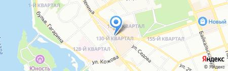 Самолёт на карте Иркутска