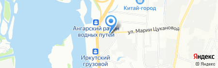 Стандарт 600 на карте Иркутска