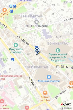 Байкальские макароны на карте Иркутска