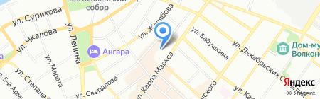 Авиаль на карте Иркутска