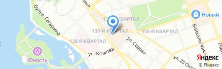 Адамас на карте Иркутска