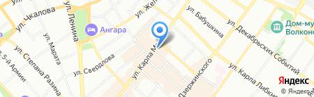 Фортуна Плаза на карте Иркутска