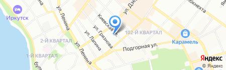 Медконтракт на карте Иркутска