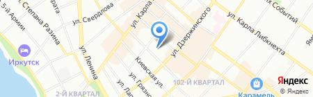 Медсанчасть МВД России по Иркутской области на карте Иркутска