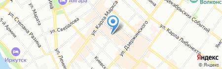 Фотография на карте Иркутска