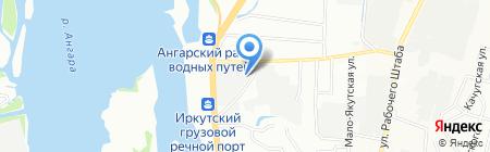 Камазин на карте Иркутска