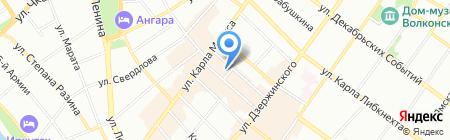 ЦентрОбувь на карте Иркутска