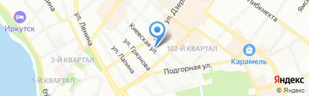 Сберегательная касса на карте Иркутска