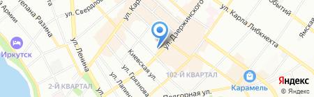 Соболёк на карте Иркутска