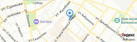 Расцвет на карте Иркутска