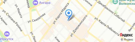 Магазин спортивной одежды на карте Иркутска
