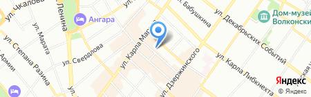 Эндокринологический центр на карте Иркутска