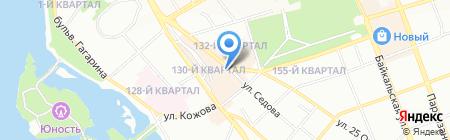 Отдельный батальон дорожно-патрульной службы ГИБДД ГУ МВД России по Иркутской области на карте Иркутска