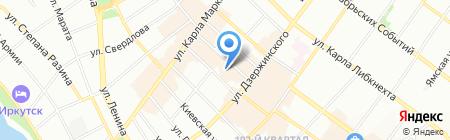 Арбат на карте Иркутска