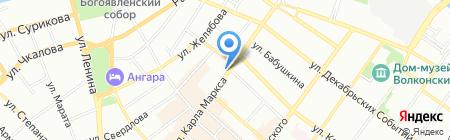 Sony Centre на карте Иркутска