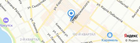 Империя меха на карте Иркутска