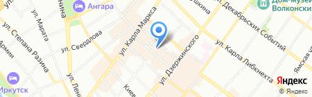 Бомонд на карте Иркутска
