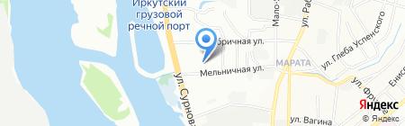 Атаман на карте Иркутска
