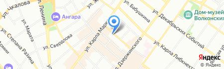 Дом-А на карте Иркутска