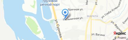 Миледи на карте Иркутска