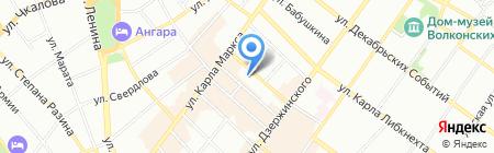 Байкал продакшн на карте Иркутска