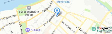 Медина на карте Иркутска