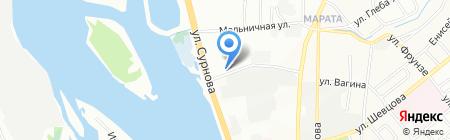 Магазин дверей и пластиковых окон на карте Иркутска
