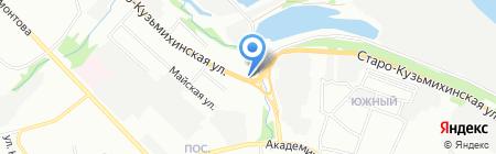 Кузьмиха на карте Иркутска